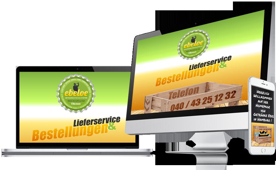 Tanja Heinzmann - Refonte complète du site web ebeloe.de, Communication et Identité visuelle, SEO, Getränke Ebeloe Hamburg